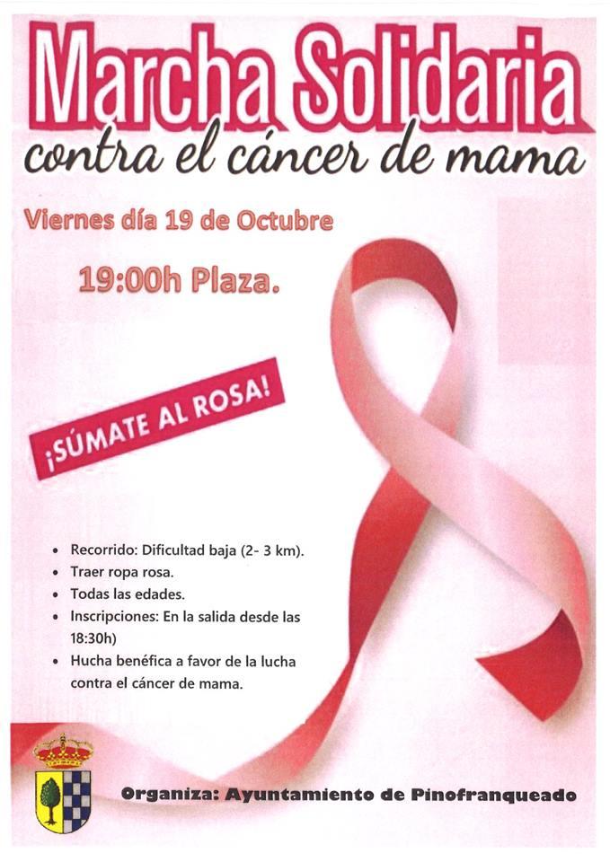 Marcha solidaria contra el cáncer de mama en Pinofranqueado