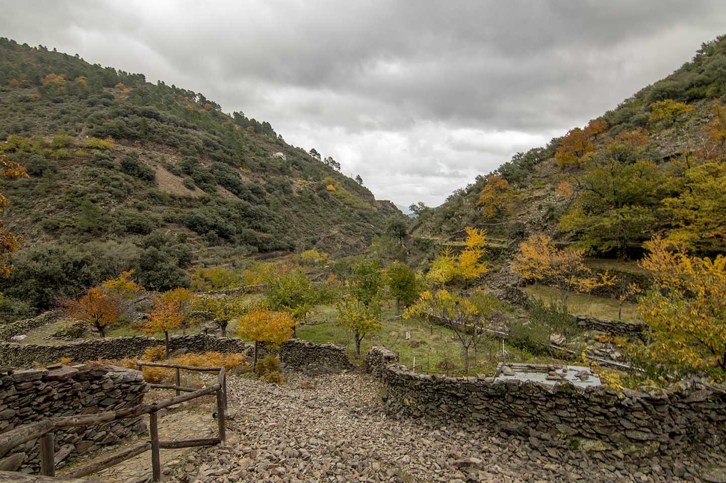 Ruta senderismo al Chorro de la Meancera de El Gasco, Las Hurdes
