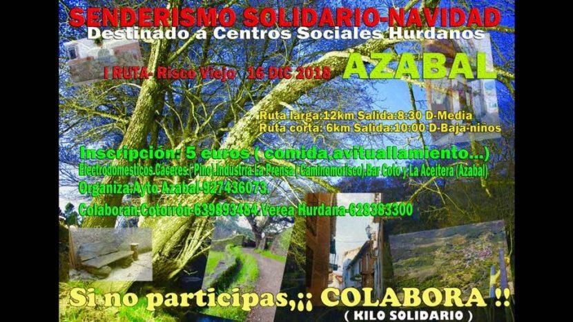 I Ruta senderismo Risco Viejo, el 16 de diciembre en Azabal, Las Hurdes