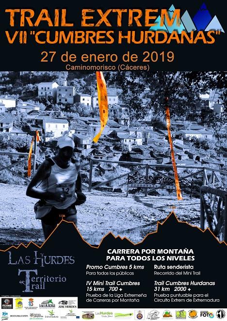 """VII Carrera por Montaña """"Cumbres Hurdanas"""", el 27 de enero de 2019 en Caminomorisco, Las Hurdes"""