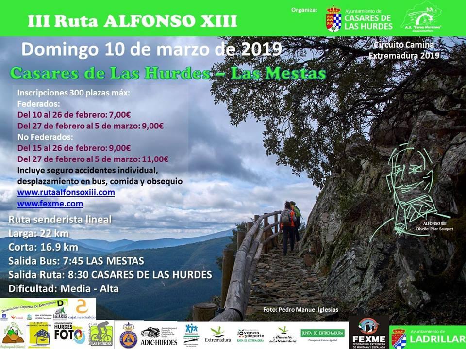 III Ruta senderismo Alfonso XIII