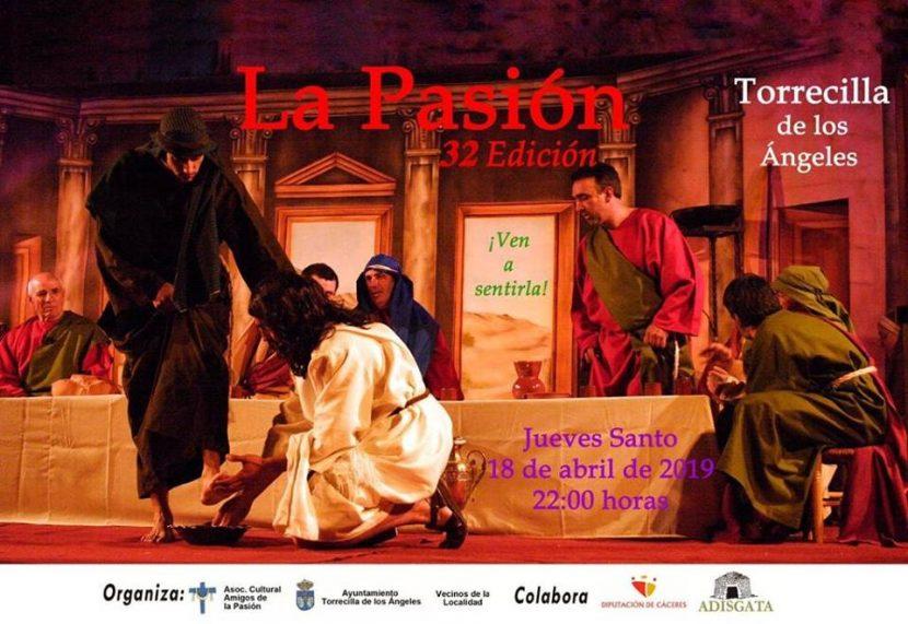 Pasión Viviente el Jueves Santo en Torrecilla de los Ángeles
