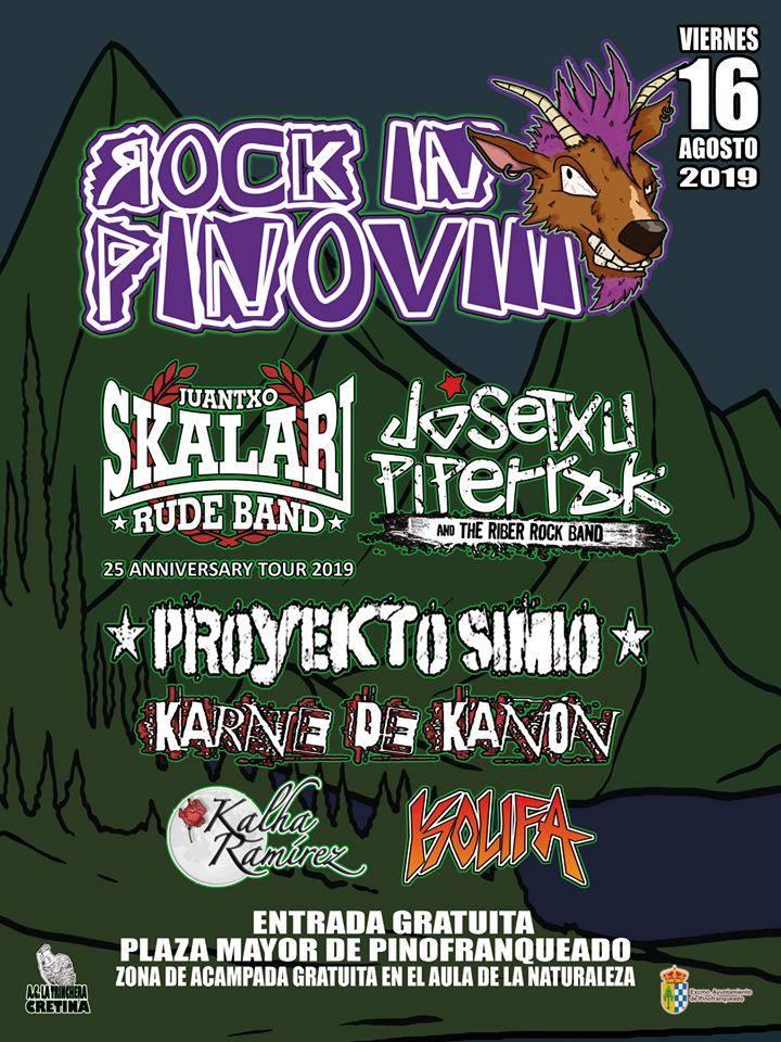 Rock In Pino VIII, el 16 de agosto