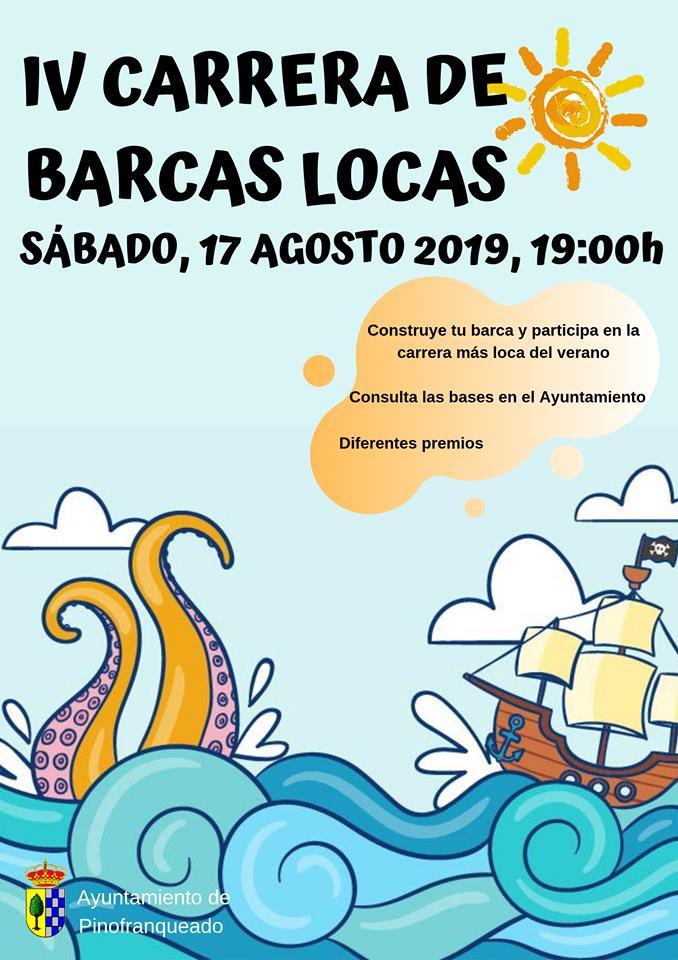 IV Carrera de Barcas Locas, el 17 de agosto en Pinofranqueado