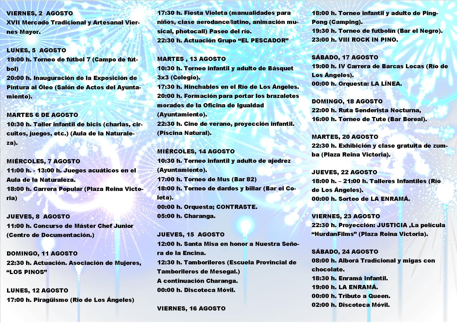 Programa de Fiestas Pinofranqueado 2019