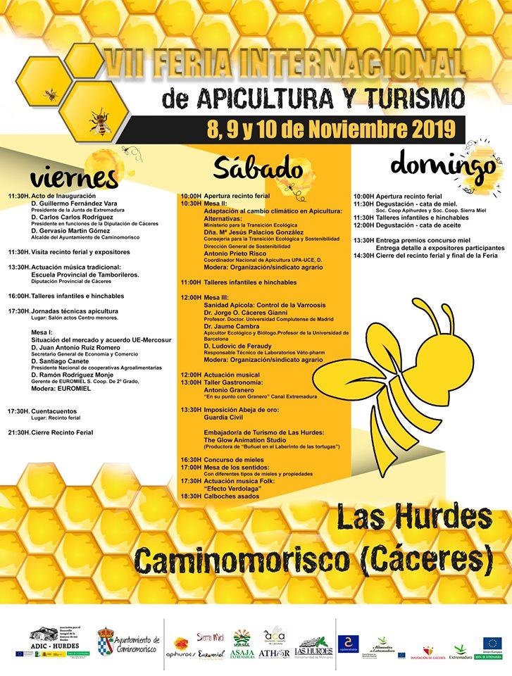 VII Feria Internacional de Apicultura y Turismo de Las Hurdes, del 8 al 10 de noviembre en Caminomorisco