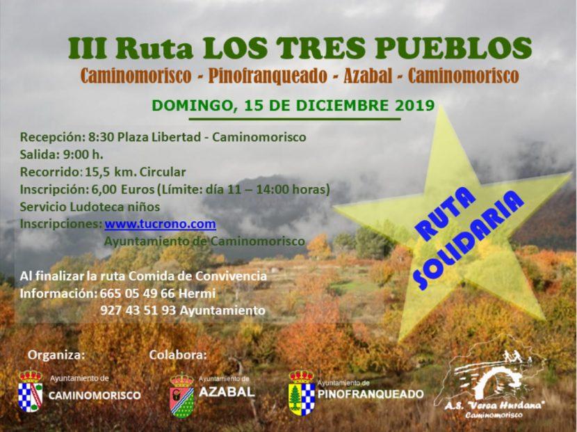 """III Ruta senderismo """"Los tres pueblos"""""""