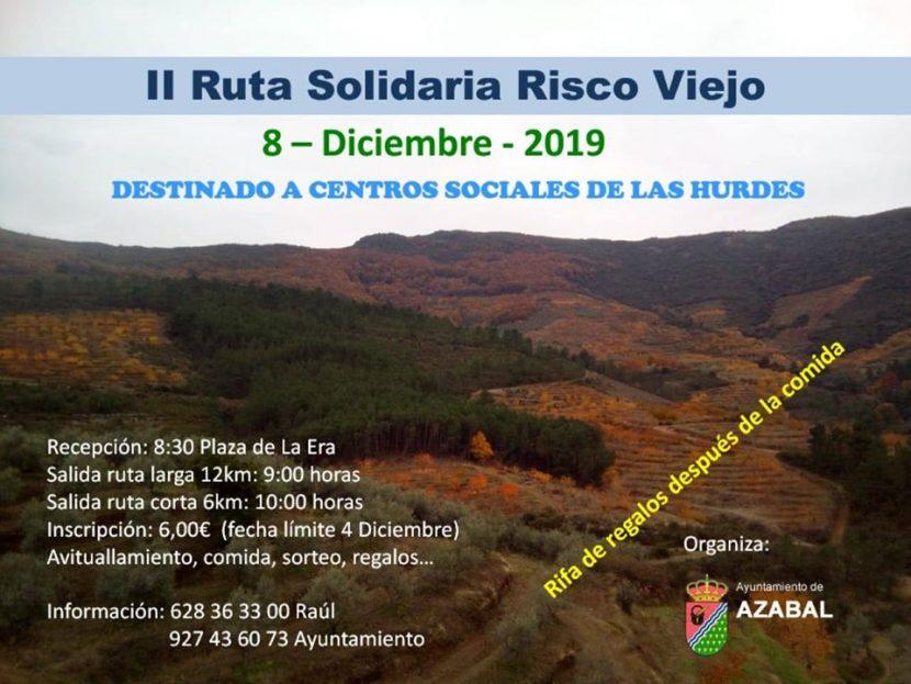 """II Ruta senderismo """"Risco Viejo"""", el 8 de diciembre en Azabal, Las Hurdes"""