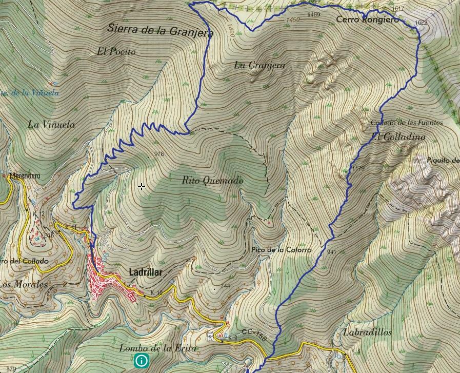 Mapa Kilómetro Vertical de Las Hurdes